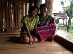Apah and her daughter, Tee Ta Poh.