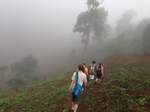 Hiking in the clouds