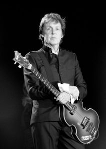 Paul McCartney. From Wikipedia http://en.wikipedia.org/wiki/File:Paul_McCartney_black_and_white_2010.jpg by Oli Gill