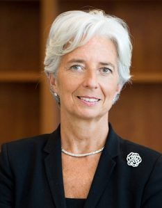 Christine LaGarde. From Wikipedia http://en.wikipedia.org/wiki/File:Lagarde,_Christine_%28official_portrait_2011%29.jpg