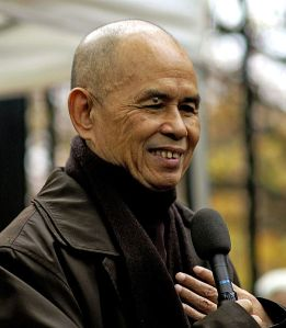 Thich Nhat Hanh. From Wikipedia http://en.wikipedia.org/wiki/File:Thich_Nhat_Hanh_12_%28cropped%29.jpg by Duc (pixiduc)
