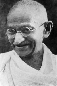 Gandhi. Vegetarian. Hero.